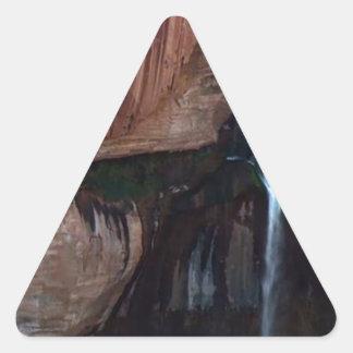 Fotos americanas del Gran Cañón de las caídas del Pegatina Triangular