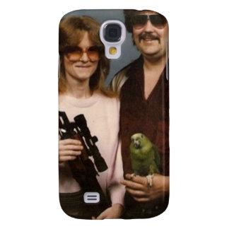 ¡Fotos de familia torpes - pares con el loro! Funda Para Galaxy S4