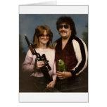 ¡Fotos de familia torpes - pares con el loro! Tarjetón