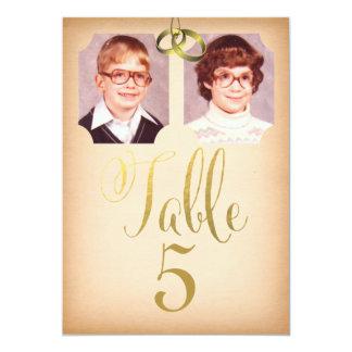 """Fotos de la escuela vieja que casan tarjetas del invitación 5"""" x 7"""""""