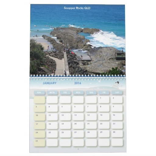 Fotos de la playa de Australia del calendario