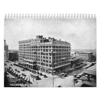 Fotos de los mediados de los años veinte del calendario de pared