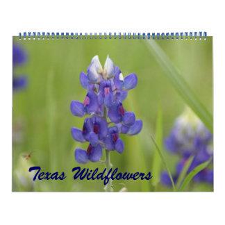 Fotos de los Wildflowers norcentrales de Tejas Calendario De Pared