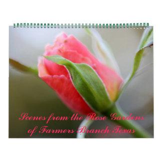Fotos de rosaledas de la rama Tejas de los granjer Calendarios De Pared