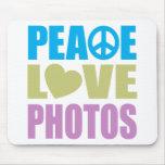 Fotos del amor de la paz tapetes de raton