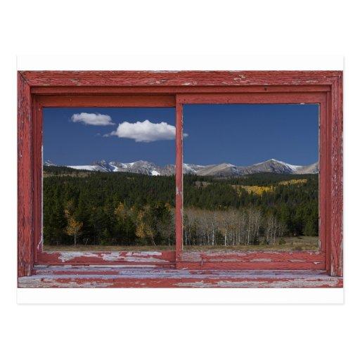 Fotos del arte del marco de ventana de imagen del postal