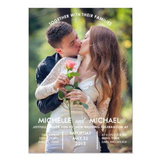 Fotos del compromiso que casan la invitación invitación 12,7 x 17,8 cm