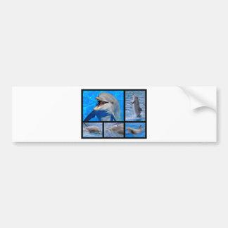 Fotos del mosaico de delfínes pegatina para auto