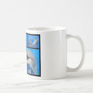 Fotos del mosaico de delfínes taza de café