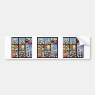 Fotos del mosaico de objetos en puerto pegatina para auto