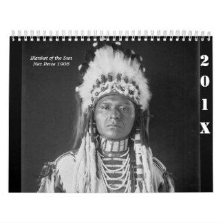 Fotos del nativo americano, indios americanos calendario de pared
