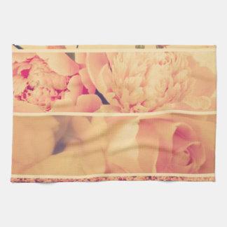 Fotos florales del collage del vintage del estilo  toalla