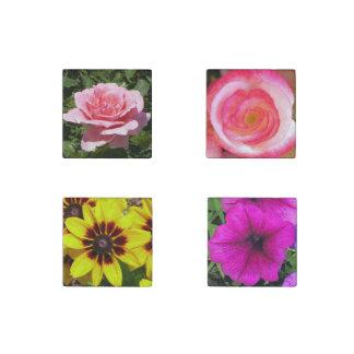 Fotos florales elegantes bonitas imán de piedra
