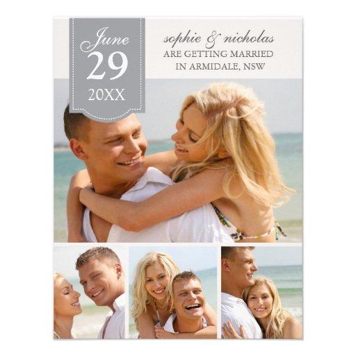 Fotos modernas que casan reserva la fecha comunicado personalizado
