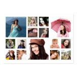Fotos múltiples en rejilla cualquier fotografía tarjetas de negocios