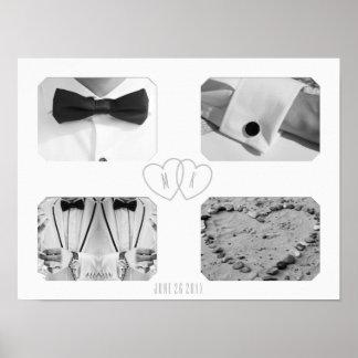 Fotos personalizadas boda de la carga por póster