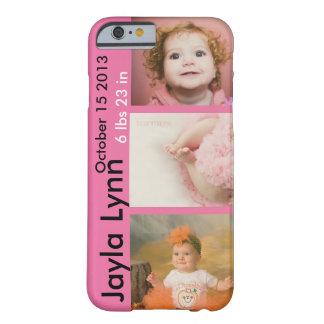 Fotos personalizadas del nacimiento funda barely there iPhone 6
