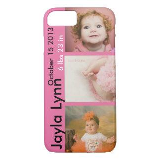 Fotos personalizadas del nacimiento funda iPhone 7