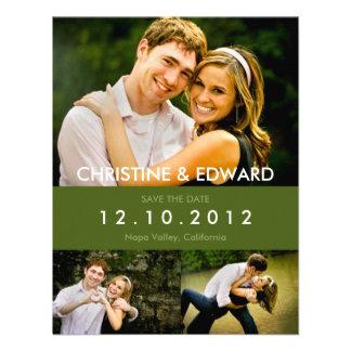 Fotos que casan reserva la tarjeta de fecha invitación personalizada