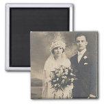 Fotos románticas antiguas de novia y del novio del imanes