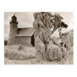 Fotos rústicas viejas hermosas del faro del vintag tarjetas postales