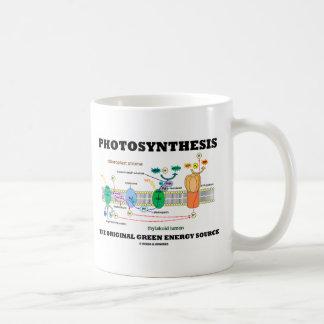 Fotosíntesis la fuente de energía verde original taza