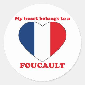 Foucault Classic Round Sticker