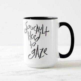 Foucault tuvo gusto de mirar taza