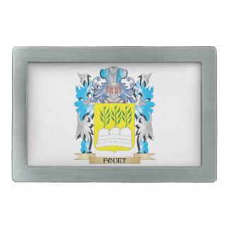 Fouet Coat of Arms - Family Crest Rectangular Belt Buckle