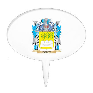 Fouet Coat of Arms - Family Crest Cake Topper
