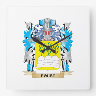 Fouet Coat of Arms - Family Crest Wall Clock