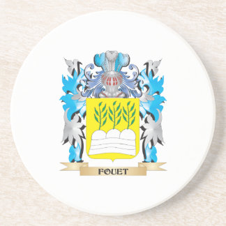 Fouet Coat of Arms - Family Crest Drink Coaster