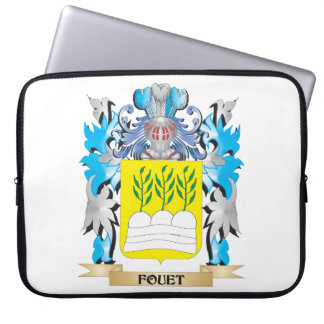 Fouet Coat of Arms - Family Crest Computer Sleeve