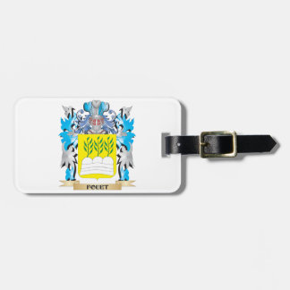 Fouet Coat of Arms - Family Crest Tags For Luggage
