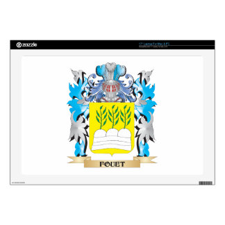 """Fouet Coat of Arms - Family Crest Skins For 17"""" Laptops"""