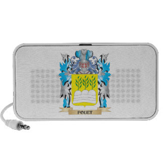 Fouet Coat of Arms - Family Crest Notebook Speakers
