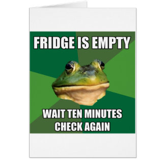 Foul Bachel Frog Empty Fridge Greeting Card