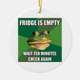 Foul Bachel Frog Empty Fridge Ceramic Ornament