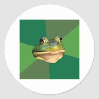 Foul Bachelor Frog Advice Animal Meme Classic Round Sticker
