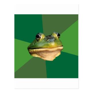 Foul Bachelor Frog Advice Animal Meme Postcards