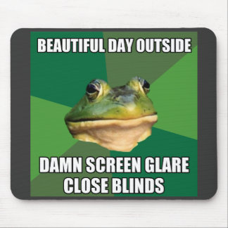 Foul Bachelor Frog Beautiful Day Mouse Pad