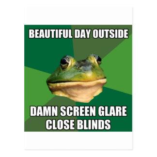 Foul Bachelor Frog Beautiful Day Postcard