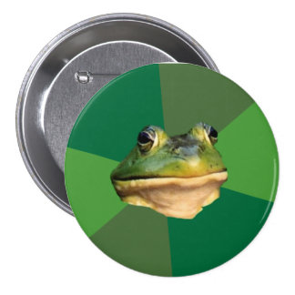 Foul Bachelor Frog 3 Inch Round Button