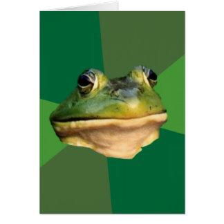 Foul Bachelor Frog Greeting Card