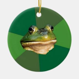 Foul Bachelor Frog Ceramic Ornament