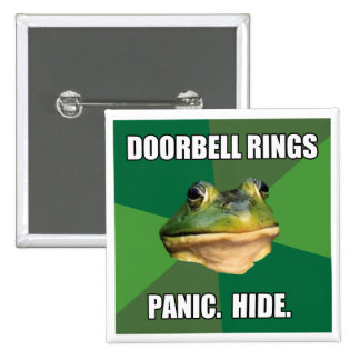 Foul Bachelor Frog Doorbell Rings 2 Inch Square Button