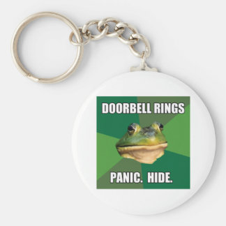 Foul Bachelor Frog Doorbell Rings Keychain