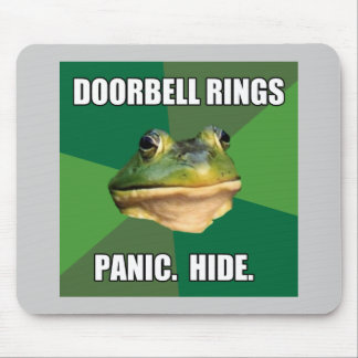 Foul Bachelor Frog Doorbell Rings Mouse Pad