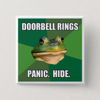 Foul Bachelor Frog Doorbell Rings Pinback Button
