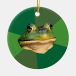 Foul Bachelor Frog Double-Sided Ceramic Round Christmas Ornament